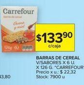 Oferta de Cereal en barra Carrefour por $133,9