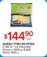 Oferta de Queso en fetas La paulina por $144,9