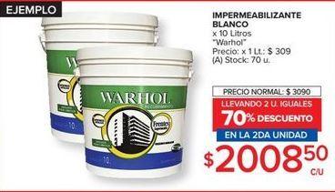 Oferta de Impermeabilizante Warhol por $2008,5