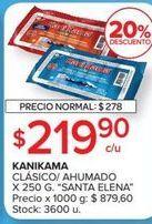 Oferta de Palitos de cangrejo Santa Elena por $219,9