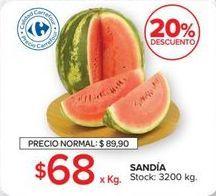 Oferta de Sandía por $68