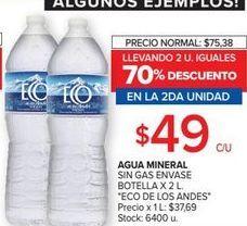 Oferta de Agua Eco de los Andes por $49