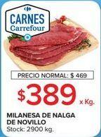 Oferta de Milanesas de nalga de novillito por $389