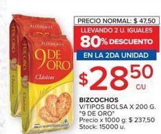 Oferta de Bizcocho 9 de oro por $28,5