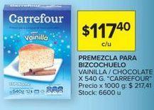 Oferta de Preparado para bizcocho Carrefour por $117,4