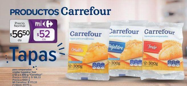 Oferta de Tapas para empanadas CARREFOUR  por $56,5