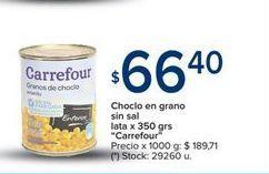 Oferta de Choclo en grano sin sal lata x 350gr  por $66,4