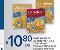Oferta de Jugo en polvo v/sabores x 24g por $10,8