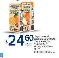 Oferta de Jugo natural naranja7multifruta tetra x 200cc CARREFOUR  por $24,6