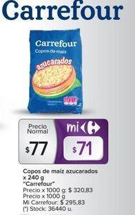 Oferta de Copos de maíz AZUCARADOS X 240G carrefour  por $77