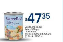 Oferta de Jardinera sin sal lata x 350grs CARREFOUR  por $47,35