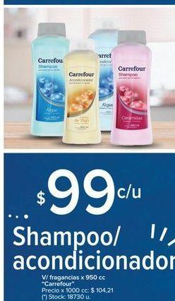Oferta de Shampoo/acondicionador v/fragancias x 950cc CARREFOUR  por $99