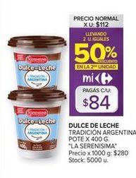 Oferta de Dulce de leche La Serenísima por $84