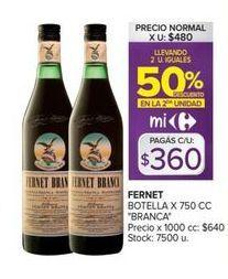 Oferta de Fernet Branca por $360