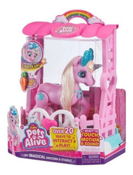Oferta de Pets Alive Unicornio Rosa Articulado por $3200