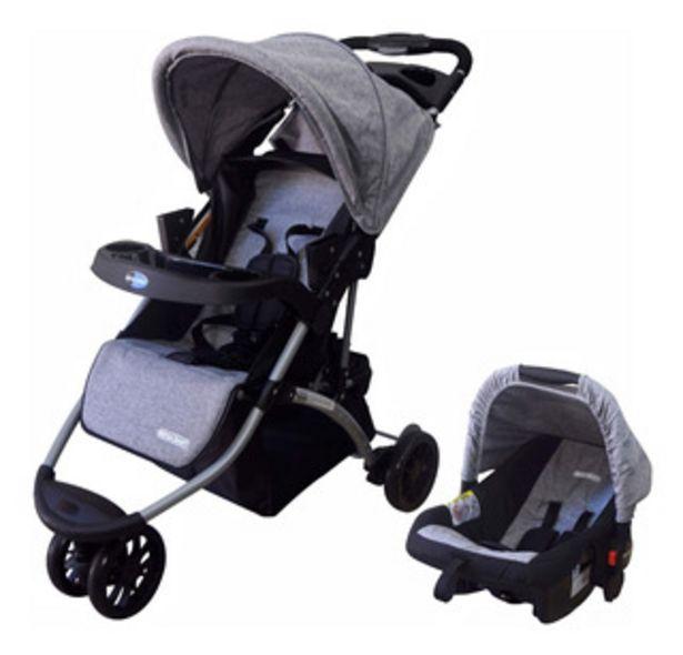 Oferta de Coche Jogger Mega Baby Travel System 3 Ruedas Con Huevito por $12390