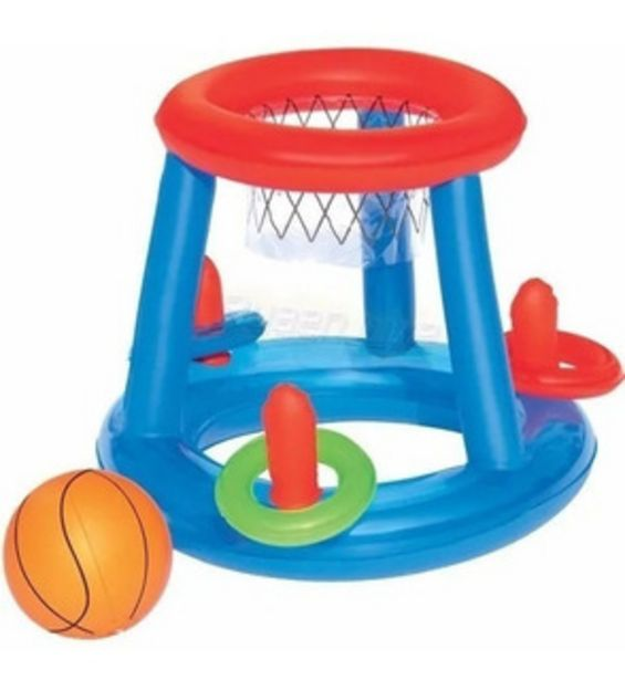 Oferta de Aro De Basket Pelota Y Aros Pileta Chicos Inflable 52190 por $1170