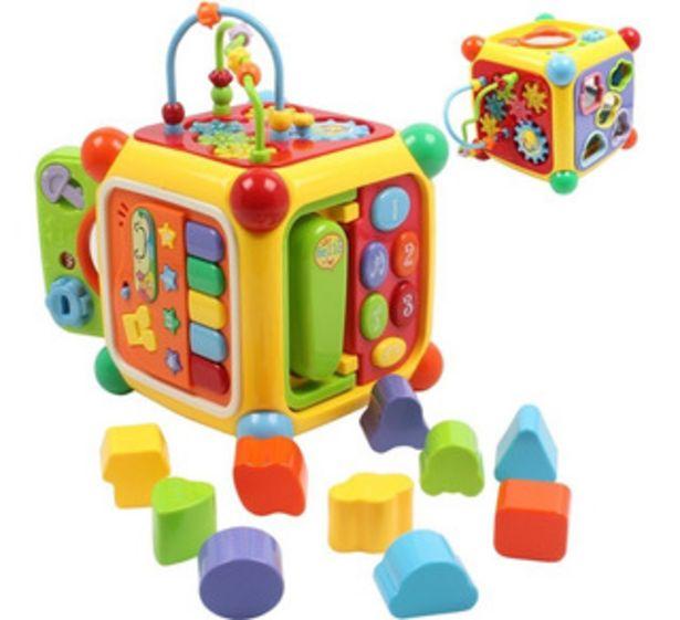 Oferta de Cubo Musical Con Actividad Juguete Educativo Y Encastre 3838 por $3690