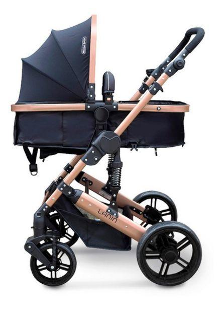 Oferta de Cochecito Mega Baby Cuna Paseo Bebe Lanin Convertible En Asiento Y Moises Estructura Resistente Plegable Liviano por $14999