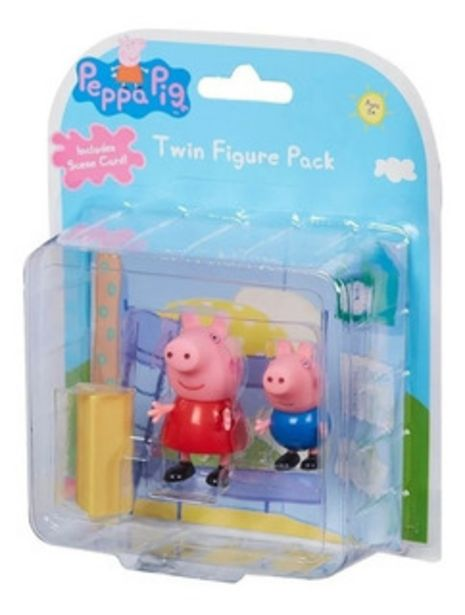 Oferta de Peppa Pig Twin Figure Pack X2 Original By Creciendo 6692 por $1012