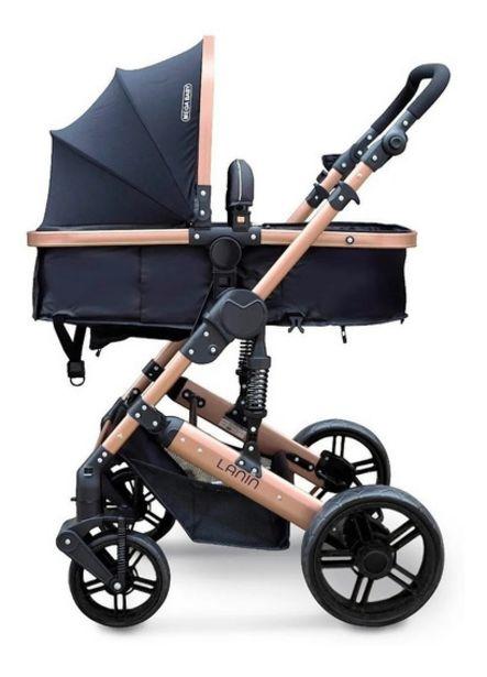 Oferta de Cochecito Mega Baby Cuna Paseo Bebe Lanin Convertible En Asiento Y Moises Estructura Resistente Plegable Liviano por $13590