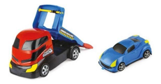 Oferta de Juguete Camion Grua Autito X-plast By Creciendo 2088 por $1399