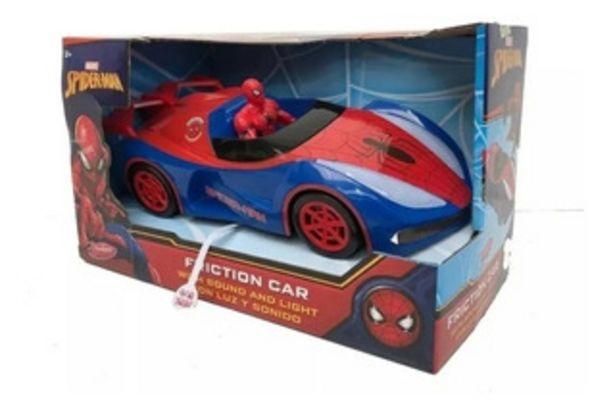 Oferta de Vehículo Auto Spiderman Fricción C/ Luz Y Sonido 7157 por $2760