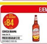Oferta de Cerveza Brahma 1lt  por $84