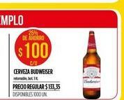 Oferta de Cerveza Budweiser 1lt  por $100