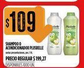 Oferta de Shampoo o acondicionador Plusbelle 1lt  por $109