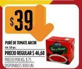Oferta de Puré de tomate Arcor 520gr por $39