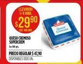 Oferta de Queso cremoso Supercrem por $29,9