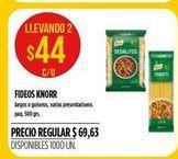 Oferta de Fideos Knorr 500grs  por $44