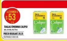 Oferta de Toallas femeninas Calipso 16un por $53