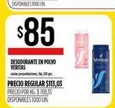 Oferta de Desodorante en polvo Veritas 400grs  por $85