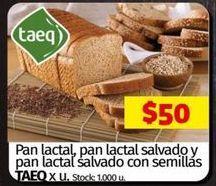 Oferta de Pan lactal, pan lactal salvado y pan lactal salvado con semillas  por $50