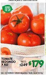 Oferta de Tomate redondo x kg  por $179