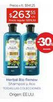 Oferta de Shampoo/Acondicionador X 400 Ml. por $263,55