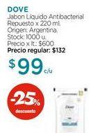 Oferta de Jabon Líquido Antibacterial Repuesto x 220 ml. Dove por $99