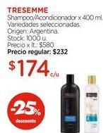 Oferta de Shampoo/Acondicionador x 400 ml. por $174