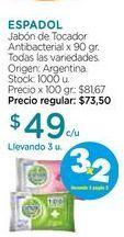 Oferta de Jabón de Tocador Antibacterial x 90 gr. por $49