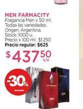Oferta de Fragancia Men x 50 ml. MEN FARMACITY  por $437,5