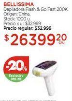 Oferta de Depiladora Flash & Go Fast 200K. por $26399,2