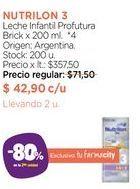 Oferta de Leche Infantil Profutura Brick x 200 ml. por $42,9