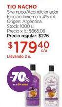 Oferta de Shampoo/Acondicionador Edición Invierno x 415 ml. por $179,4