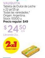 Oferta de Tableta de Dulce de Leche x 22 gr/25 gr. por $24,5