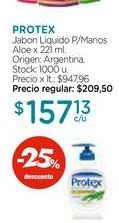 Oferta de Jabon Liquido P/Manos Aloe x 221 ml. por $157,13