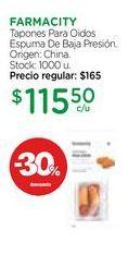 Oferta de FARMACITYTapones Para Oidos Espuma De Baja Presión. por $115,5
