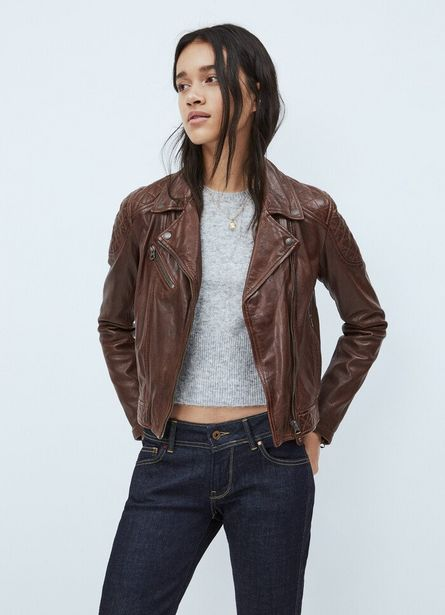 Oferta de ALBA LEATHER BIKER JACKET por $21200