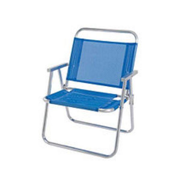 Oferta de Silla Aluminio Oversize Azul 61X62X101 Cm por $7490